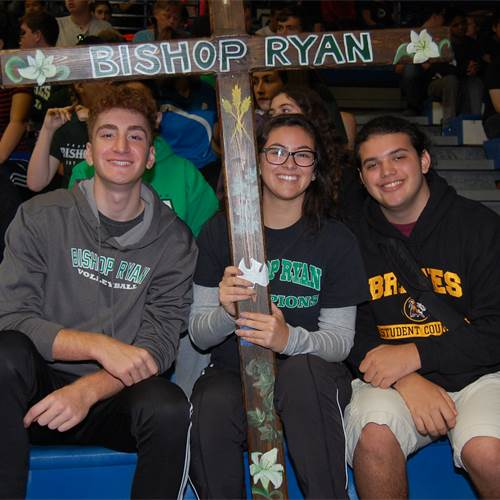 "Students from Bishop Ryan Catholic Secondary School attend a Eucharistic Celebration at Cathedral High School on Oct. 15. Close to 3,000 students and staff take part in the annual ""Walk with Christ"" pilgrimage to end world poverty."